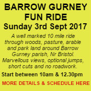 Barrow Gurney Fun Ride Sunday 3rd September 2017